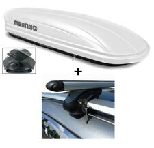 VDP VDPMAA460White Lockable Roof Box 460Ltr Menabo Tema Roof Girder for Vauxhall Astra H 2004-2011Steel Transporting & Storage