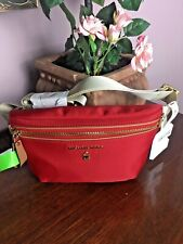 New Michael Kors Waist Bag Fanny Pack Red Nylon Adjustable Belt B15