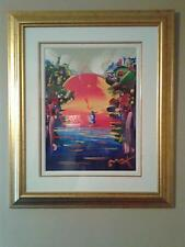 """Peter Max  Better World III 24"""" x 18"""" Mixed Media Painting with COA 1999"""