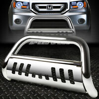 FOR 03-08 HONDA PILOT/06-14 RIDGELINE CHROME BULL BAR PUSH BUMPER GRILLE GUARD