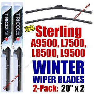 WINTER Wipers 2pk 1999-2010 Sterling Truck A9500 L7500 L8500 L9500 - 35200x2