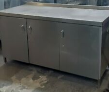 More details for stainless steel  prep table work bench kitchen catering under storage table