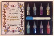 ART THERAPIE COFFRET PIGMENTS ET PAILLETTES 50 créations customiser ANTI-STRESS
