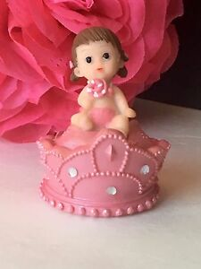 1-Baby Shower Princess Girl Pink Cake Topper Decorations Figurines Party Favors