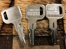 3 Ignition keys Hyster Forklift, Lull Telehandler, NH Skid Steer, Upright/Yale F