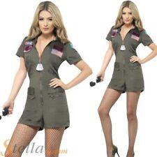 femmes TOP GUN Déguisement aviateur combinaison années 80 militaire pilote