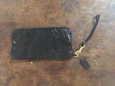 Authentic Coach Black Patent Leather Wristlet