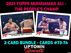 2021 Topps MUHAMMAD ALI  The People's Champ 2-Card Bundle Cards #73- 74  PRESALE