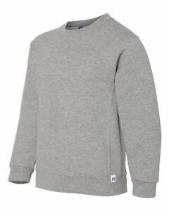 Russell Athletic Dri-Power Fleece Crewneck Sweatshirt, Youth Crew, Size S-XL