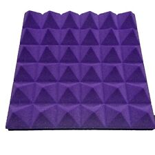 Hot Sale 8 PCS Pyramid Acoustic Foam in Purple For Practice Music Room