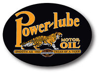 POWER LUBE MOTOR OIL SUPER HIGH GLOSS OUTDOOR 4 INCH DECAL STICKER