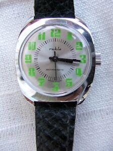 Seltene  Ruhla- Armbanduhr !