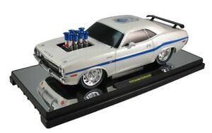 1970 Dodge Challenger GP Drag Wheels (75th Anniversary) White 1:18 Scale By M2