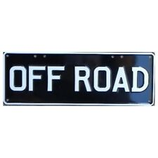 Novelty Number Plate - Off Road White On Black AUS Licence Plate Sign Wall Art H