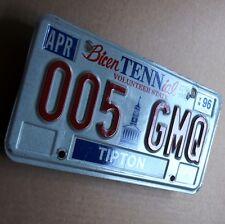 Tennessee = antigua matrícula estados unidos 1996 us license plate 005 GMQ Tipton perfecto