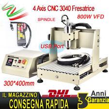 4 Axis Cnc3040 USB Fresatrice incisore macchina 800W CUTTER trapanatura+Handrad