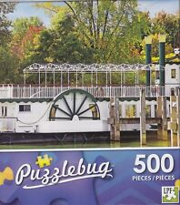 New Puzzlebug 500 Piece Puzzle ~ Old Fashioned Paddle Steam Boat
