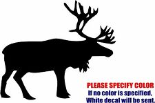 Vinyl Decal Sticker - Caribou Animal Hunt Antler hunting Car Truck JDM Fun 6""