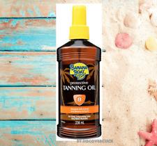 New Banana Boat Protective Oil Deep Tanning Spray Bottle Spf 8 Sunscreen - 8 oz