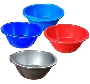 Large Plastic Washing Up Bowl 11.5 litre,Round Kitchen sink basin circular 40 cm