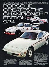 1977 Porsche 1976 Race 924 and 936 Original Advertisement Print Art Car Ad J815