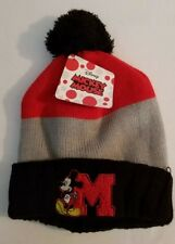 f3c8b162df8 Disney Mickey Mouse Baby 12mos Winter Beanie Hat Cap Fleece Lined NWT