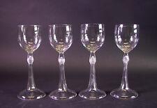 -4-edle Jugendstil Weisswein Gläser um 1900 - sehr schön