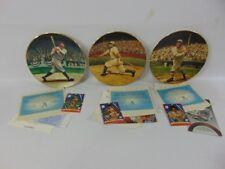 Delphi BradEx Legends of Baseball 22-karat Gold Plates (6) COA Cards Ruth Cobb