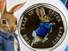 New listing 2017 Peter Rabbit Silver Proof 50 Pence Coin Royal Mint Beatrix Potter Easter
