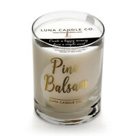 Fresh, Pine Balsam Scented Jar Candle,Natural Soy Wax with Eucalyptus & Evergeen
