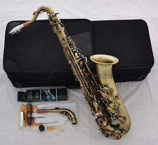 Professional Antique C Melody Saxophone Abaone Key 2 Neck + Sax Metal Mouthpiece