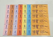 1500 BOOKS 2 PAGE (GAMES) 6 TO VIEW JUMBO BINGO TICKETS SHEET