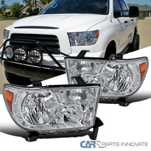 For Toyota 07-13 Tundra 08-17 Sequoia Clear Headlights Head Lamps Left+Right
