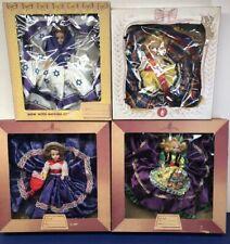 7� Vintage Lot Of 4 Melody Dolls Star Of David, Gibson German Dress W/ Boxes #B