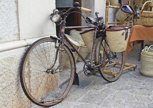 Postkarte: Bula -  Fahrrad / Bastkörbe