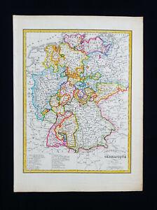 1810 LAPIE: GERMANY CONFEDERATION, NORTH EUROPE, NORTH SEA, MUNCHEN, KOLN...