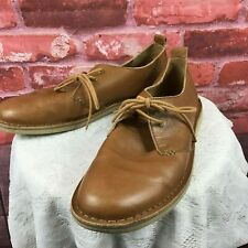 Born Crown Men's Brown Leather Lace Up Casual Shoes Size 10.5