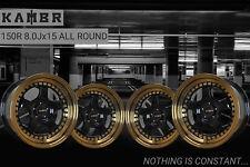 15 inch KAMBR 150R 4x100 ET23 8J BLACK alloy wheels  Alpina 3 SERIES B3 E30 BMW
