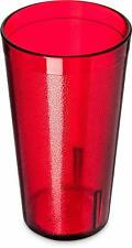 6 Restaurant Tumbler Beverage Cups Break-Resistant Drinking Glasses Red Plastic