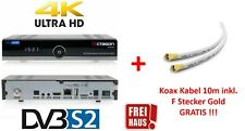OCTAGON SF8008 4K UHD 2160p Multistream DVB-S2X + 10m Koax Kabel 135dB GRATIS