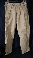New Beige Double Layer SECTION DIVISION G-LAYER CARGO Ski/Snowboard Pant Sz M