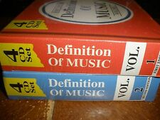 NEW Definition of Music 1st edition volume 1 & 2nd edition volume 2 box CD sets