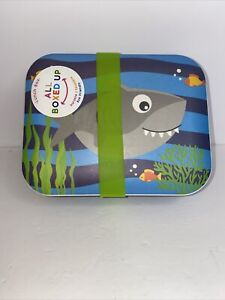 Lunch Box All Boxed Up Eco Friendly NEW Durable Blue Shark And Fish