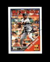 Ellis Burks Hand Signed 1988 Topps Boston Red Sox Autograph