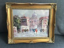 Oil On Canvas Painting In Gilt Frame Signed J.Rau - One Of A Pair
