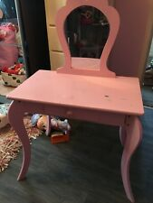 Free Amelia Vanity Childrens girls Pink Wooden Dressing Table With Mirror free