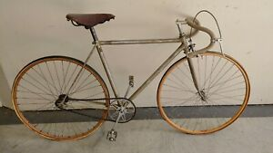 1940s Sieber Swiss Antique Track Bicycle with Wood Rims