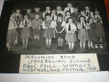 Old Photo Froebelian School Kendal band wins prize 1951