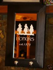 Custom Wedding Anniversary Gift Western 2 Hook Personalized Etched Bar Mirror