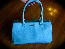 Kate Spade Wellesley Ostrich Embossed MARTINE Handbag Pool AQUA Blue Tote Bag